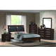 Crown Mark Furniture Emily Bedroom Set in Rich Cherry