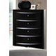 Crown Mark Furniture Emily Drawer Chest in Black B4280-4