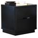 Ligna Metropolitan 2 Drawer Nightstand in Dark Charcoal 6212DC