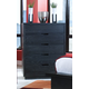 Ligna Metropolitan 5 Drawer Chest in Dark Charcoal 6224DC