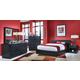 Ligna Metropolitan 4 Piece Storage Platform Bedroom Set in Dark Charcoal