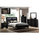 Crown Mark Furniture Emily Bedroom Set in Black