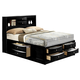 Crown Mark Furniture Emily Captain's King Bed in Black