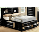 Crown Mark Furniture Emily Captain's Queen Bed in Black