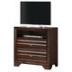 Crown Mark Furniture Stella Media Chest in Rich Brown B4500-7