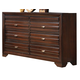 Crown Mark Furniture Stella Dresser in Rich Brown B4500-1