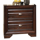 Crown Mark Furniture Stella Nightstand in Rich Brown B4500-2