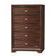 Crown Mark Furniture Stella Drawer Chest in Rich Brown B4500-4