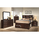 Crown Mark Furniture Stella Captain's Bedroom Set in Rich Brown
