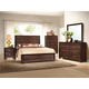 Crown Mark Furniture Stella Panel Bedroom Set in Rich Brown