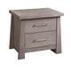 Ligna Zen 2 Drawer Nightstand in Driftwood 8122DW