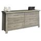 Ligna Zen 6 Drawer Dresser in Driftwood 8126DW