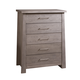 Ligna Zen 5 Drawer Chest in Driftwood 8124DW