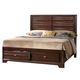 Crown Mark Furniture Stella Storage King Bed in Rich Brown