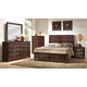 Crown Mark Furniture Stella Storage Bedroom Set in Rich Brown