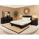 Ligna Zen 4 Piece Low Profile Bedroom Set in Ebony