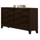 Crown Mark Furniture Collier Dresser in Dark Brown B9500-1