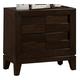 Crown Mark Furniture Collier Nightstand in Dark Brown B9500-2