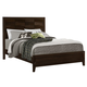 Crown Mark Furniture Collier Queen Panel Bed in Dark Brown