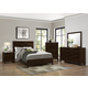 Crown Mark Furniture Collier Panel Bedroom Set in Dark Brown