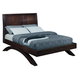 Crown Mark Furniture Vera King Arch Bed in Rich Brown
