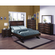 Crown Mark Furniture Vera Arched Bedroom Set in Rich Brown