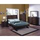 Crown Mark Furniture Vera Arched Bedroom Set in Rich Brown