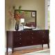 Ligna Port 9 Drawer High Dresser in Rose Brown 6626RB
