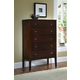 Ligna Port 5 Drawer High Chest in Rose Brown 6624RB