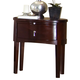 Ligna Port 1 Drawer Oval Night Table in Rose Brown 6612RB