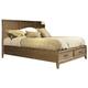 Ligna Soho King Panel Storage Bed in Latte 7038LT