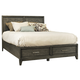 Ligna Soho King Panel Storage Bed in Gray Wash