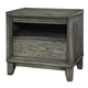 Ligna Soho 1 Drawer Nightstand in Gray Wash 7032GW