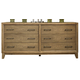 Ligna Soho 6 Drawer Dresser in Gray Wash 7036GW