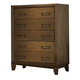 Ligna Soho 5 Drawer  High Chest in Latte 7034LT