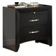 Crown Mark Furniture Galinda Nightstand in Black B4380-2