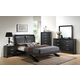 Crown Mark Furniture Galinda Arch Bedroom Set in Black