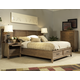 Ligna Soho 4 Piece Panel Storage Bedroom Set in Latte