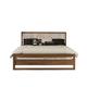 Ligna Tribeca King Slat Bed in Natural Walnut 9318NW