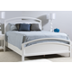 Ligna Tribeca King Arched Bed in Snow White 9348SW