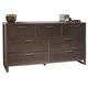 Ligna Tribeca 7 Drawer Dresser in Graphite 9326GR