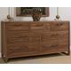 Ligna Tribeca 7 Drawer Dresser in Natural Walnut 9326NW