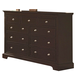 Crown Mark Furniture London Dresser in Dark Chocolate B6701