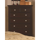 Crown Mark Furniture London Drawer Chest in Dark Chocolate B6704