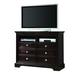 Crown Mark Furniture London Media Chest in Dark Chocolate B6757