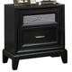Crown Mark Furniture Elise Nightstand in Glossy Black B9300-2