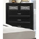 Crown Mark Furniture Elise Drawer Chest in Glossy Black B9300-4