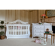 Million Dollar Baby Classic Ashbury Collection 4 in 1 Convertible Crib Set in White M82WSET