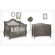 Million Dollar Baby Classic Ashbury Collection 4 in 1 Convertible Crib Set in Manor Grey M82MGSET
