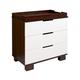 Babyletto Modo 3 Drawer Changer Dresser in Espresso/White M6723QW